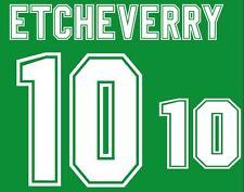Etcheverry #10 WC 1994 Bolivia Home Football Nameset for shirt