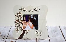Flower Girl Picture Frame Wedding Party Favor Thank you gift Keepsake- Custom