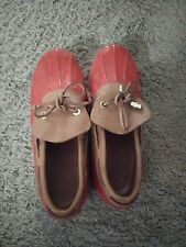 TORY BURCH Duck Slip On RAIN Shoes AMAZING Size 7.5 LEATHER Red STUNNING Mint