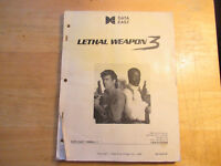 LETHAL WEAPON 3  DATA EAST  pinball machine manual