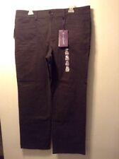 Gloria Vanderbilt Brown Mona Pants Trouser Fit NWT 16P Petite Average Stretch