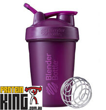 BLENDER BOTTLE CLASSIC 590mL PLUM SHAKER PROTEIN MIXER CUP W CARRY LOOP BPA FREE