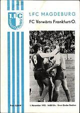OL 75/76 1. FC Magdeburg - FC Vorwärts Frankfurt / Oder, 01.11.1975