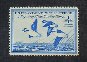 CKStamps: US Federal Duck Stamps Collection Scott#RW15 $1 Mint H OG