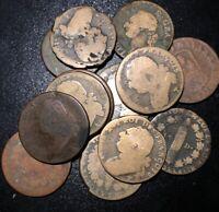 1700s Louis XVI 1 Sol, 12 denier, 1/20 Pound French Revolution Rare Copper Coin