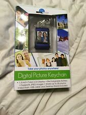 """Digital Picture Keychain 1.5"""" Color LCD Display Stores 50 Photos NIP"""