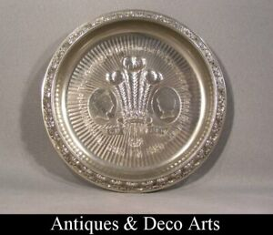 Commemorative Silver-plated Tray Wedding Lady Diana & Prince of Wales in 1981
