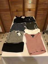 LOT OF 8 SIZE SMALL WOMENS - 7 TOPS 1 SKIRT