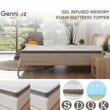 "Jacquard Cover 3""/ 4"" Cool Memory Foam Mattress Topper Underlay All Size Pad Mat"