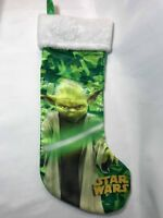 Star Wars Green Satin Christmas Stocking Yoda 2015