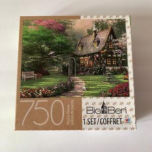 Milton Bradley Big Ben Misty Lane Cottage In The Woods Puzzle 750pc NEW