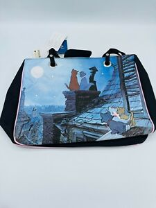 Disney Aristocats Tote Bag Purse Travel Beach Carry-on Roof Chimney Scene - RARE