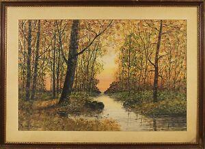 Raphael Senseman (American, 1870-1965) Original Watercolor Painting Signed