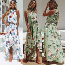 Evening Party Beach Dresses Sundress Women  Asymmetric Maxi Dress Beach Sundress