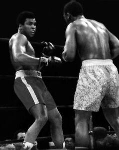 1971 Boxing MUHAMMAD ALI & JOE FRAZIER Glossy 8x10 Photo 'Title Fight 1' Poster