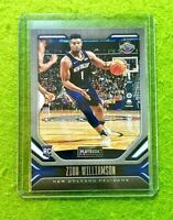 ZION WILLIAMSON ROOKIE CARD JERSEY #1 PELICANS RC 2019-20 Chronicles PLAYBOOK rc