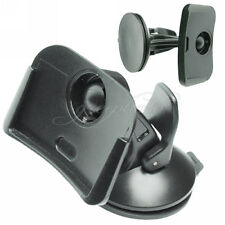 Black In-Car Windshield Dashboard Mount Holder For TomTom One XL 4.3 Inches
