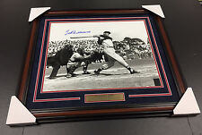 TED WILLIAMS AUTOGRAPHED SIGNED FRAMED 16X20 PHOTO GREEN DIAMOND BOSTON RED SOX