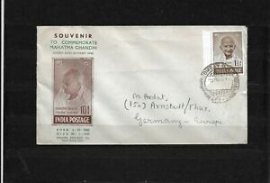 India Indien 1948 Gandhi Privat FDC Bombay to Germany Nice