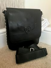 ANDREW CHARLES BY ANDY HILFIGER BLACK STUDDED CROSSBODY BAG RETAIL €185