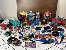 Huge 1980?s Transformers G1 Lot , Pretenders , Auto bots , Parts/weapons Lot.