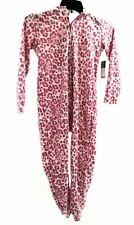 XOXO Girl Girls Flame Resistant Pink Leopard Sleepwear One Piece Size 4/5