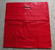 "Glossy Jumbo RED Shopping Merchandise Bags 20""x20""x5"" Lot 25"