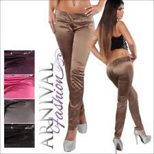 WOMENS PINSTRIPE LONG PANTS TROUSERS LADIES XS S M CELEB STRAIGHT LEG TREGGINGS