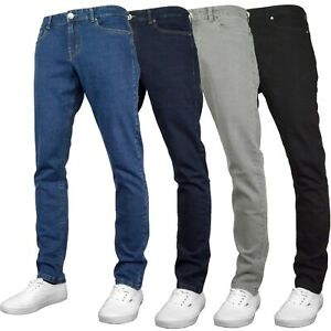 "F&H Colorado Mens Stretch Regular Fit Straight Leg Denim Jeans 28"" - 48"" Waist"