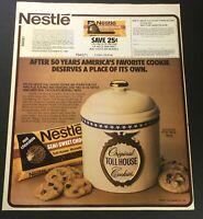 VTG Retro 1980 Nestle Semi-Sweet Chocolate Toll House Morsels Print Ad Coupon