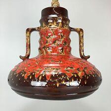 60er 70er Jahre Keramik Ceramic Lamp Lampe Leuchte Hängelampe Space Age Design
