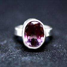 Large Color Change Alexandrite Ring Bezel June Birthstone 55th Anniversary