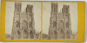 France, Tours, Église St. Martin Vintage stereo card,  Tirage albuminé  8,