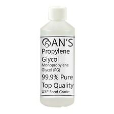 ANS Propylene Glycol  MPG, Food Grade, 99.9% Pure EP/BP 250 ml