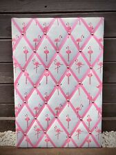 Large Handmade Sophie Allport Flamingos Fabric Notice Memo Board