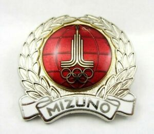 Moscow 1980 Summer Olympic Games MIZUNO JAPAN Official Olympic Pin Badge Rare
