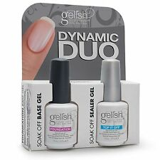 Duo Pack Top it off Foundation Base Gel Nail Harmony Gelish UV Soak Off Gel