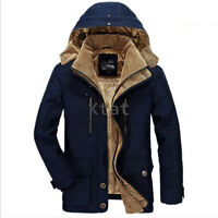 Winter Warm New Padded Parka Mens Jacket Thicken Coat Wadded Long Hooded T700