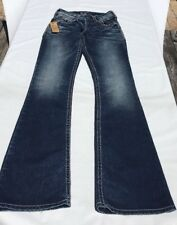 Silver Jeans Juniors Suki Mid Boot Style Size 24 Distressed NEW NWT Free Ship