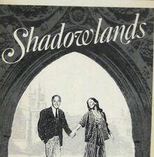 Shadowlands Playbill 1990 Atkinson Theatre Nigel Hawthorne Jane Alexander Layne
