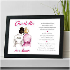 PERSONALISED Bridesmaid Maid of Honour Flower Girl Gifts for Sister Friends Her