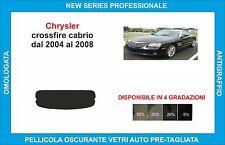 pellicole oscuranti vetri chrysler crossfire cabrio dal 2004 al 2008 kit lunotto
