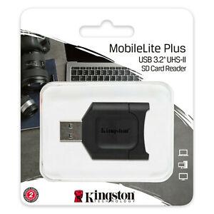 Kingston USH-II SD Card Reader MobileLite Plus USB3.2 Memory SDXC Card Reader