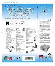 10pz Bolsas Bosch Compatible con Todos los Modelos Indicado en Foto