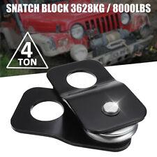 Winch Snatch Block Pulley Off Road-Recovery Heavy Duty 4 Ton Tonne Black