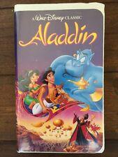 Rare Vintage Aladdin  (VHS)- Walt Disney's  Black Diamond Classic