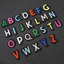 A-z Embroidered Multicolor Alphabet English Letters Patches DIY Clothing Craft