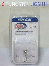 6 Lazer Sharp Sz.10 .07oz. Nickel Tungsten Orb Ice Jigs (ICTOJ10-NK) EB040102*