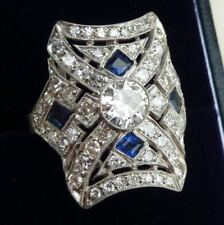 Vintage Edwardian Antique 1 Ct Diamond Engagement Art Deco Filigri Ring Era 1815
