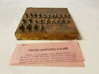Vintage Brass Bagha Chal Tiger Moving Game Nepal/Nepalese Board Game Complete